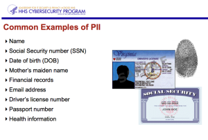 Examples of personally identifiable information